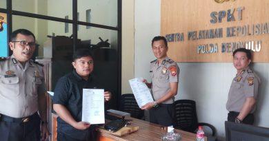 Diduga Ancam Wartawan, Ketua DPRD Kota Bengkulu Dilaporkan ke Polisi