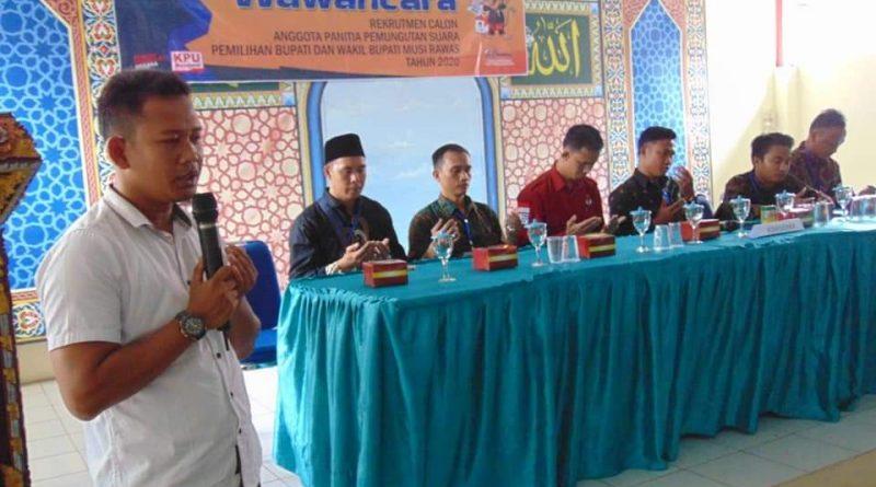 Lulus Tes Tertulis, Calon Anggota PPS Kabupaten Musi Rawas Lanjut Tes Wawancara di Enam Kecamatan