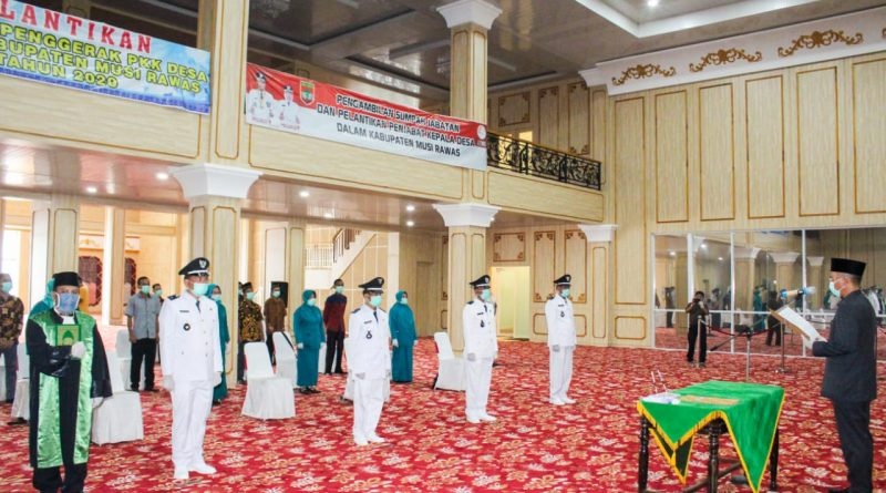 Bupati Musi Rawas Lantik 4 Penjabat Kades