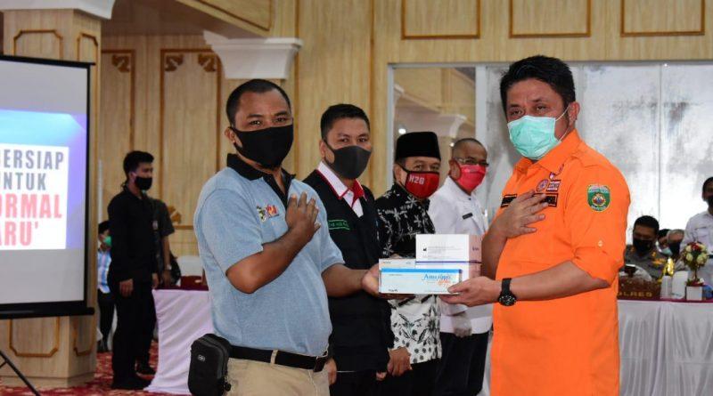 PWI Musi Rawas Terima Bantuan Alat Rapid Tes dari Gubernur Sumsel