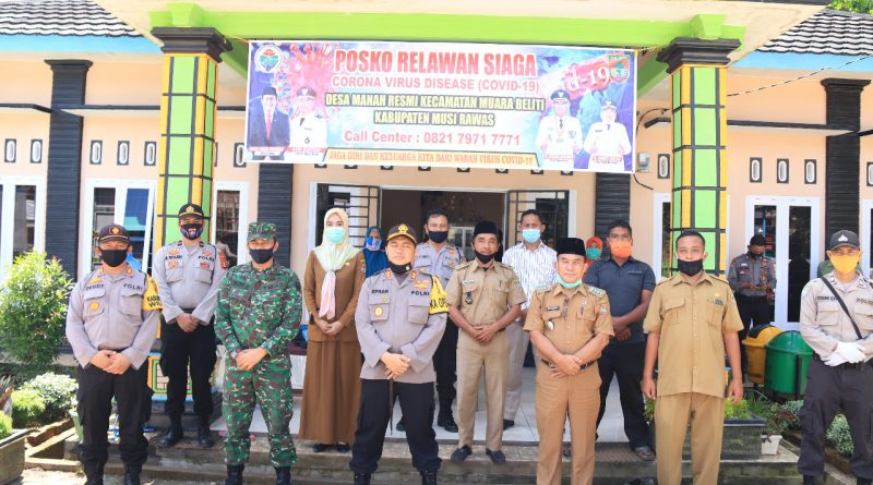 Cegah Covid-19, Kapolres Musi Rawas Resmikan Kampung Tangguh
