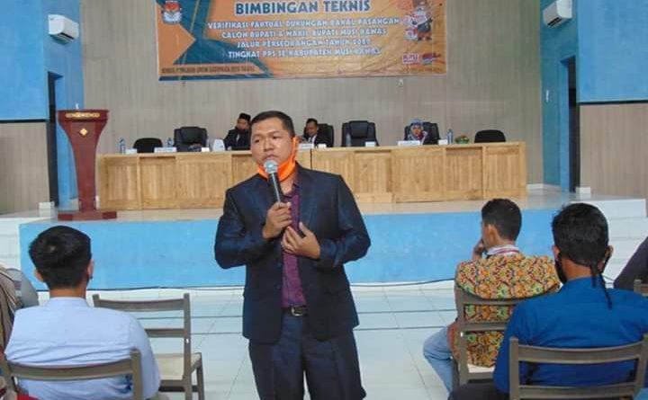 Persiapan Verfak Dukungan Bakal Calon Perseorangan, 188 Ketua PPS Musi Rawas Ikuti Bimtek